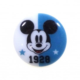 bouton disney mickey 1928 bleu 18mm