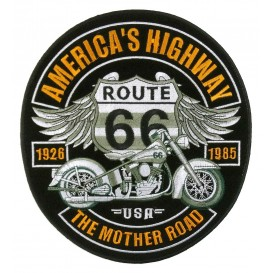 écusson biker route 66 thermocollant