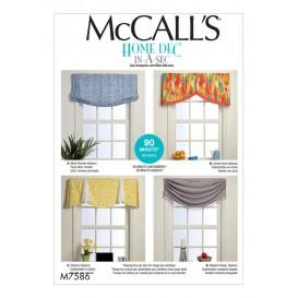 patron décor pour fenêtres McCall's M7586