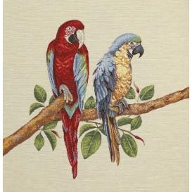panneau de coussin artica perroquets 47cm x 47cm