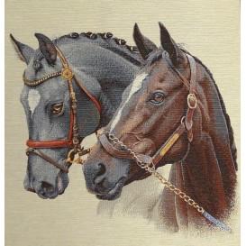 panneau de coussin artica chevaux 47cm x 47cm