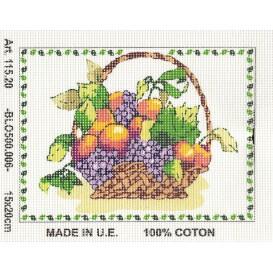 Kit canevas fruits 15x20 cm