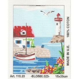 Kit canevas port n°2 15x20 cm
