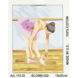 Kit canevas ballerine 15x20 cm