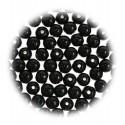 perles de verre translucide noir 4mm