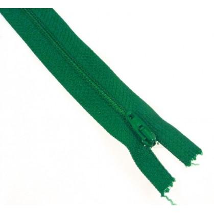 fermetures à glissières polyester vert clair