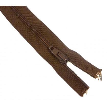 fermetures à glissières polyester marron clair