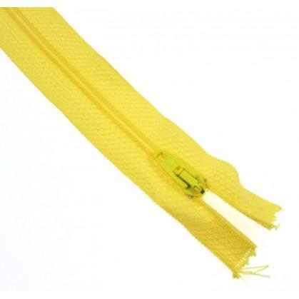 fermetures à glissières polyester jaune clair