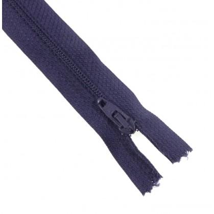fermetures à glissières polyester bleu acier