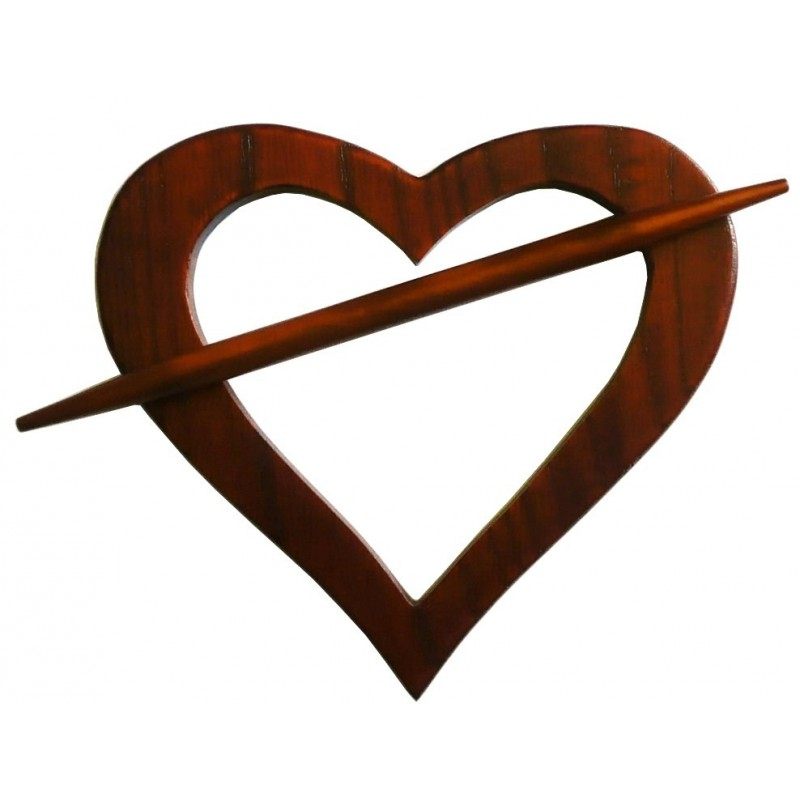 embrasse coeur en bois pour rideaux. Black Bedroom Furniture Sets. Home Design Ideas