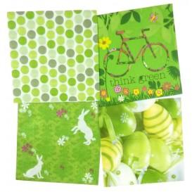 lot de 12 serviettes papier pâques 1