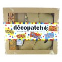 kit decopatch masques carnaval papier mâché