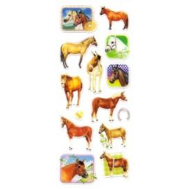 stickers chevaux 14 pcs