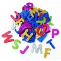 lettres en mousse glitter