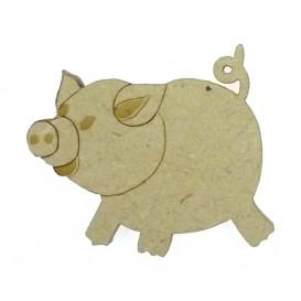 sujet en bois cochon