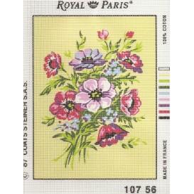 kit canevas fleurs