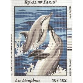 kit canevas dauphins n°2