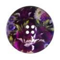 bouton nacre imprimé fleurs 27mm