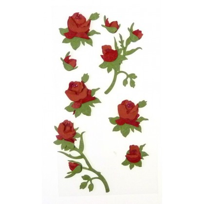 stickers roses rouges