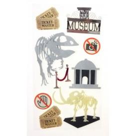 stickers musée de dinosaure