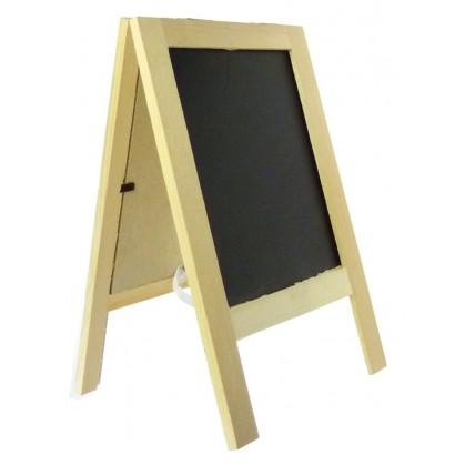 chevalet en bois cadre double face ardoise. Black Bedroom Furniture Sets. Home Design Ideas