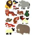 gommettes animaux 26 pièces