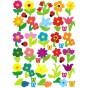 gommettes fleurs 87 pièces