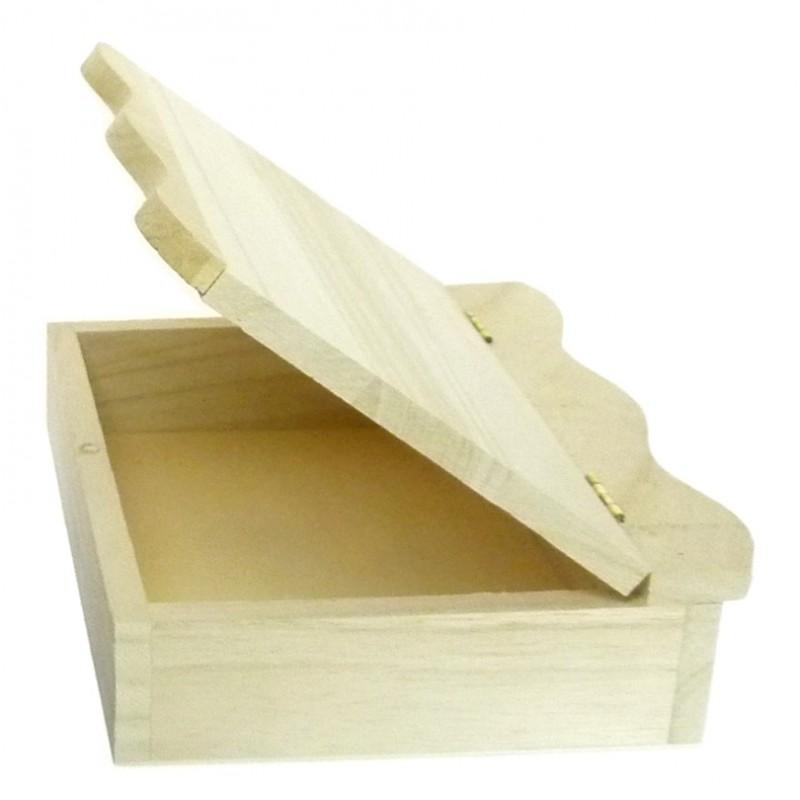boite couvercle vague aimant en bois brut d corer. Black Bedroom Furniture Sets. Home Design Ideas