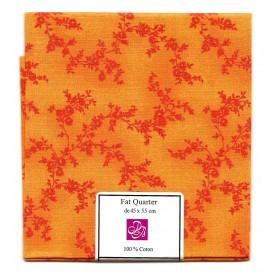 coupon patchwork imprimé branches oranges
