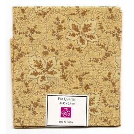 coupon patchwork imprimé fleurs beiges