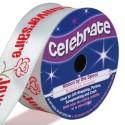bobine de ruban celebrate satin joyeux anniversaire 25mm x 3m