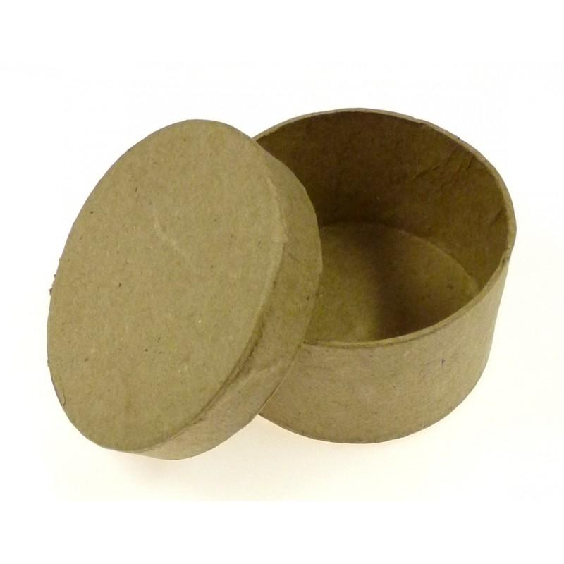 Boite ronde en papier m ch 70x39mm for Boite ronde a decorer