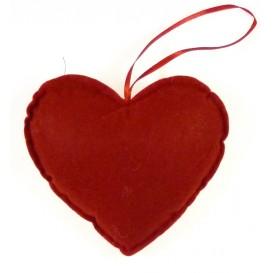 coeur en feutrine rouge 135x135mm