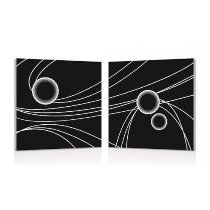 tableau impression numérique diptyque cercles n°2