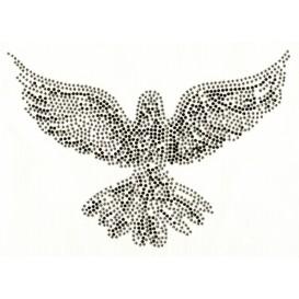 transfert en strass oiseau aigle 25,5x18cm