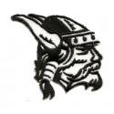 écusson tête de viking noir et blanc thermocollant