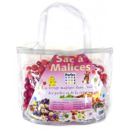 kit perles box sac à malices perle rose