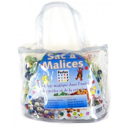 kit perles box sac à malices perle bleu