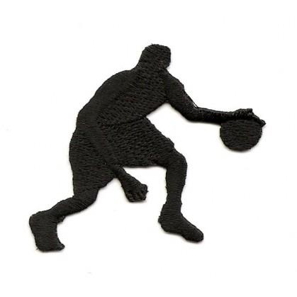 écusson joueur de basket noir thermocollant