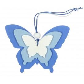 papillons en bois à suspendre 8cm