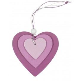 coeur en bois à suspendre 9,5x9,5cm