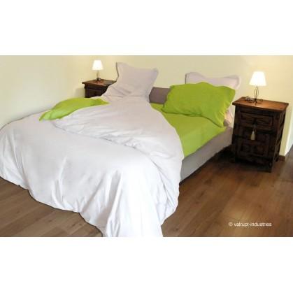 housse de couette uni 57 fils 140x200cm. Black Bedroom Furniture Sets. Home Design Ideas