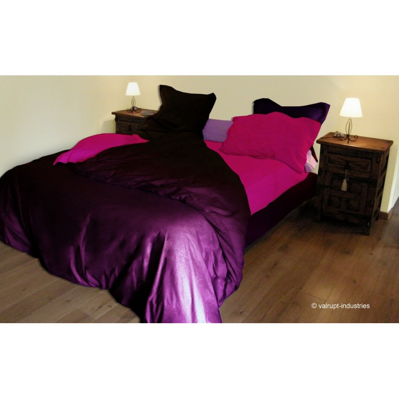 housse de couette uni 57 fils 260x240cm. Black Bedroom Furniture Sets. Home Design Ideas