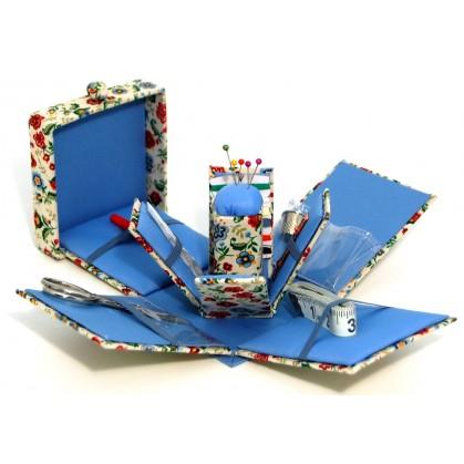 Trousse de couture carr e d pliante fleurs for Trousse de couture complete