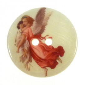 bouton nacre imprimé femme ange 27mm