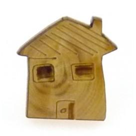 bouton fantaisie bois maison