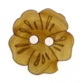 bouton fantaisie bois fleur 25mm