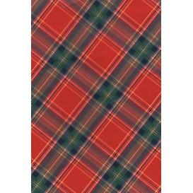 feuille décopatch écossais rouge