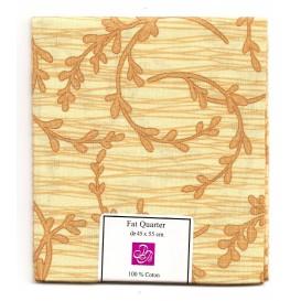coupon patchwork imprimé branches marron