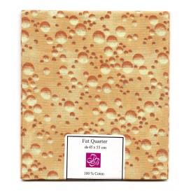 coupon patchwork imprimé bulles d'eau marron clair